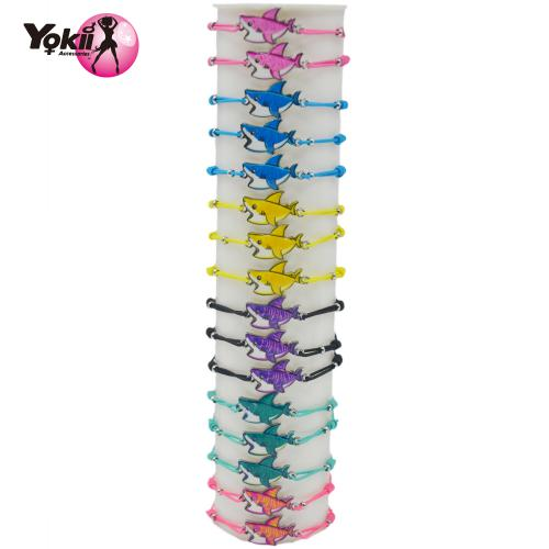 Colorful Handmade Alloy Shark Bracelets For Women Kids Bracelet 30pcs