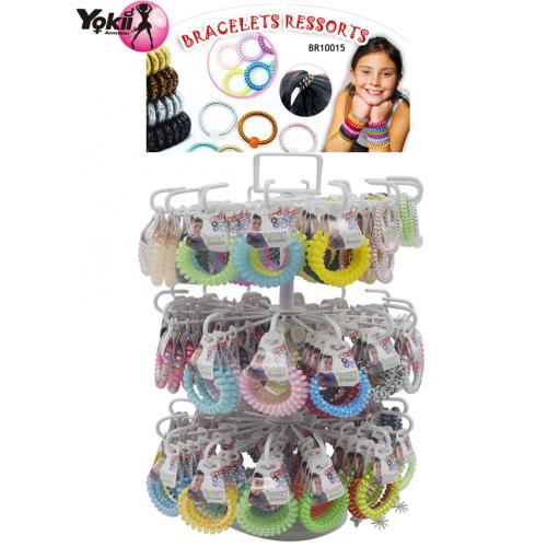 2 in 1 Bracelet & Hair Ties Display(252p...