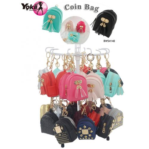 PU backpack Coin Purse with Tassel Keyri...