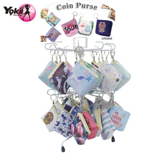 PVC Printed Coin Purse Display(80Pcs/Display incl.Header)