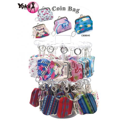 Printing Coin Purse Display(100Pcs/Display incl.Header)