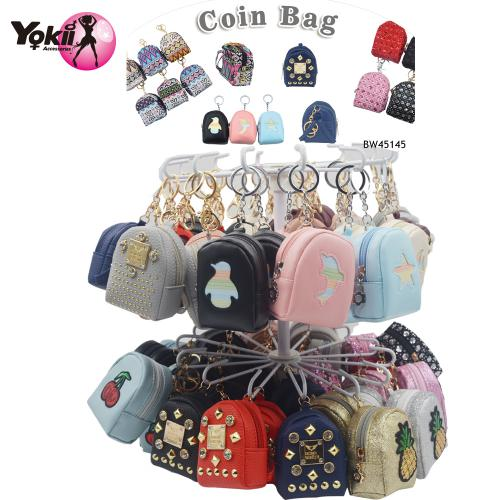 PU backpack Coin Purse Keyring & Bag Acc...